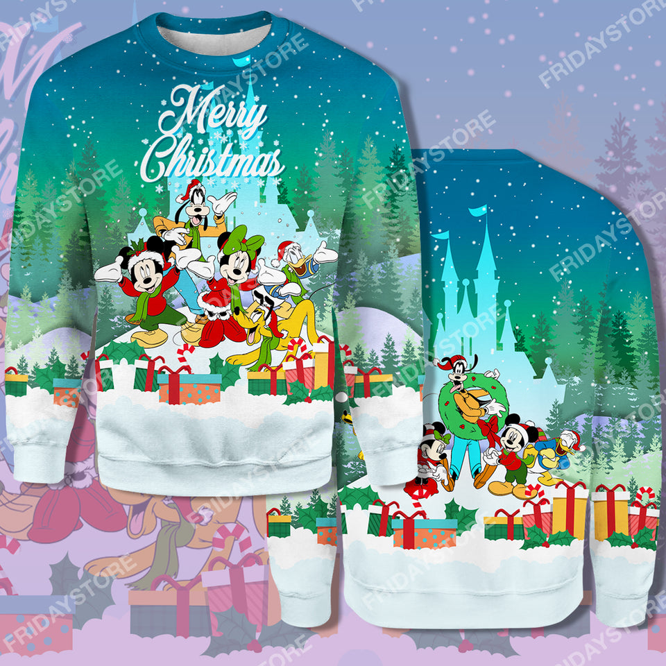 DN Play Together Merry Christmas All Over Print Hoodie T-shirt