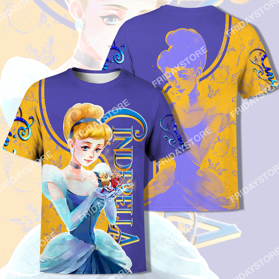 DN Princess And Mouse Friends All Over Print Hoodie T-shirt