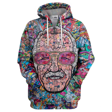 Stan Lee Pattern Full Printing Stan Lee  Shirt Stan Lee Hoodie