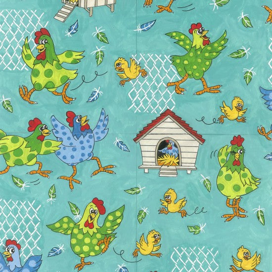 Animated chicken colouring Teal, Green, Yellow, Blue Feathers, House, Chicken Wire