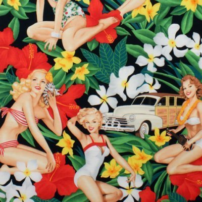 Aloha Girls - Alexander Henry - Black