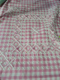 Australian Cross Stitch or Chicken scratch on Gingham Fabric