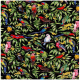 Australian Native Birds in flowering gum tree with Navy, Dark Royal Blue background Lorikeet, Kingfisher, Galah, Parrot, Kookaburra, Budgie, Cockatoo