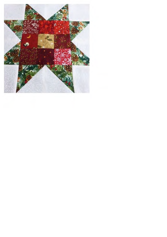 Christmas Star - Using 9 Patch Ruler