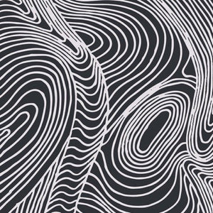 Black background with White Swirling lines
