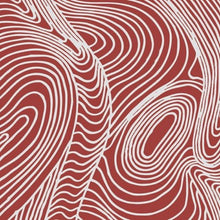 Red background with White Swirling lines