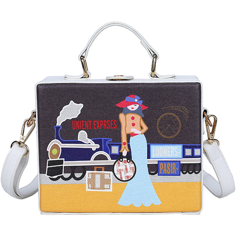 Cartoon Train Bag