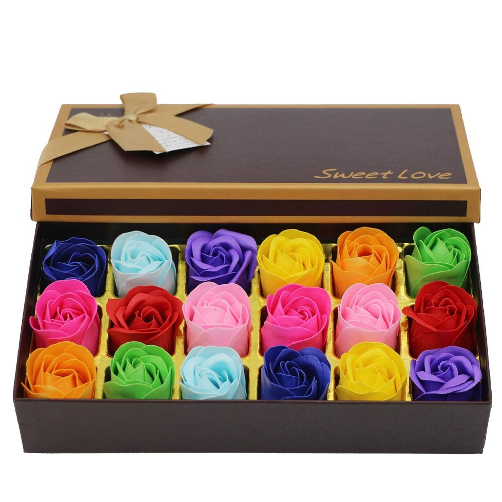 18 Pcs Flowers Rose Soap - HUNPER