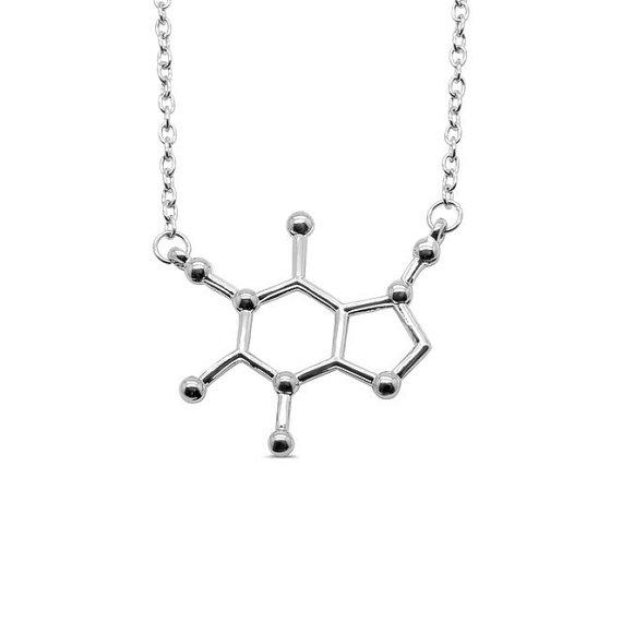 Caffeine Molecule Necklace - HUNPER
