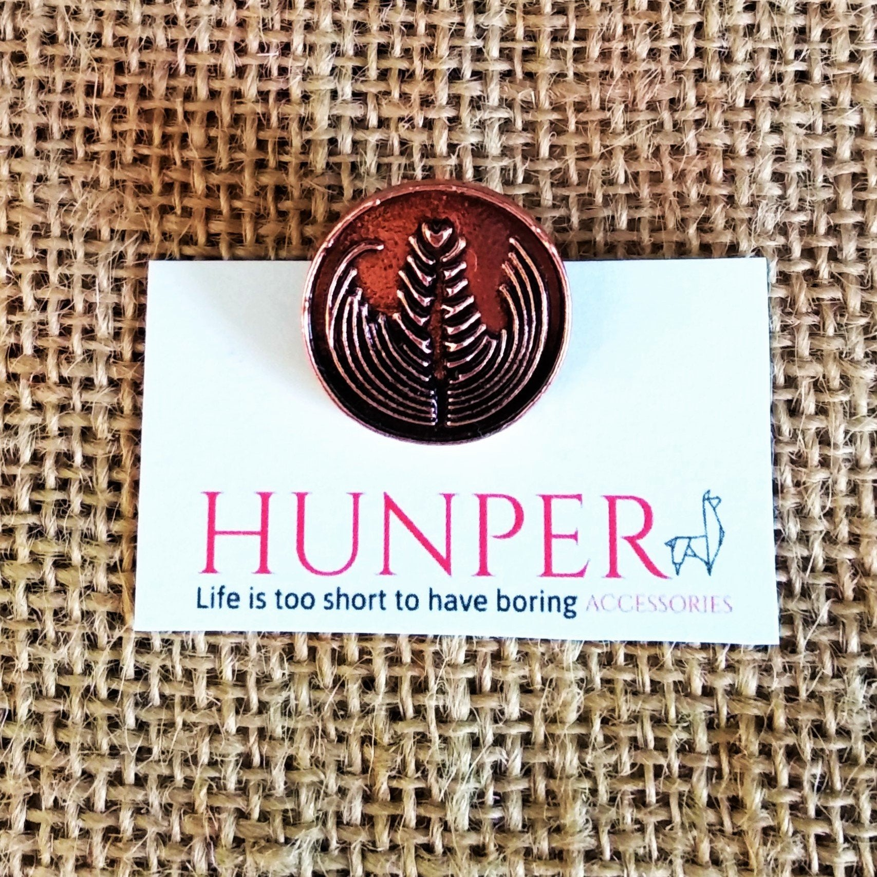 Bronze Latte Art Pin - HUNPER