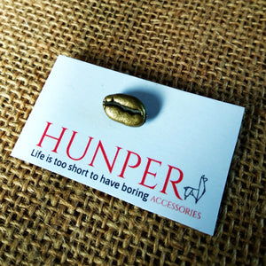Bronze Coffee Bean Pin - HUNPER