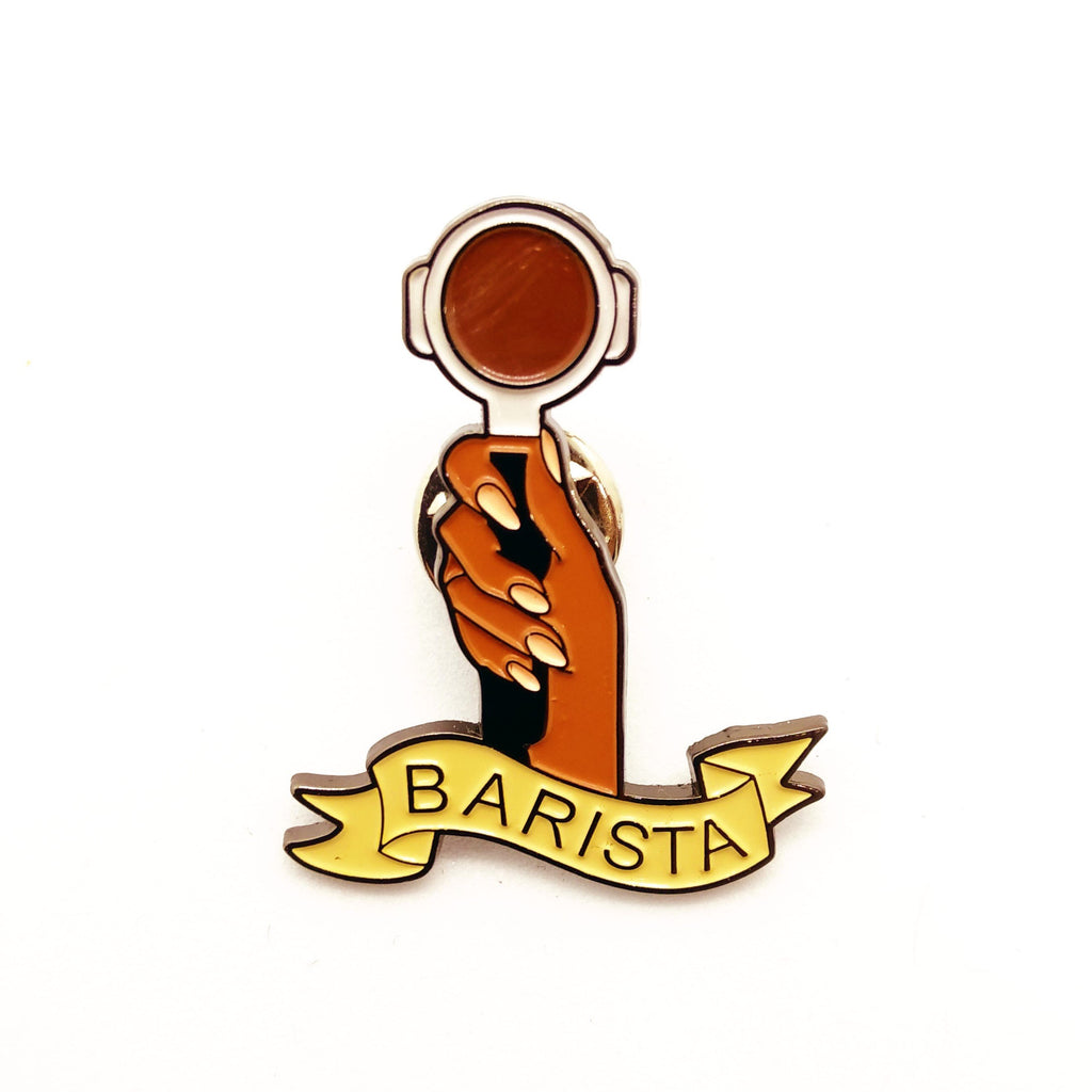 Barista Coffee Pin