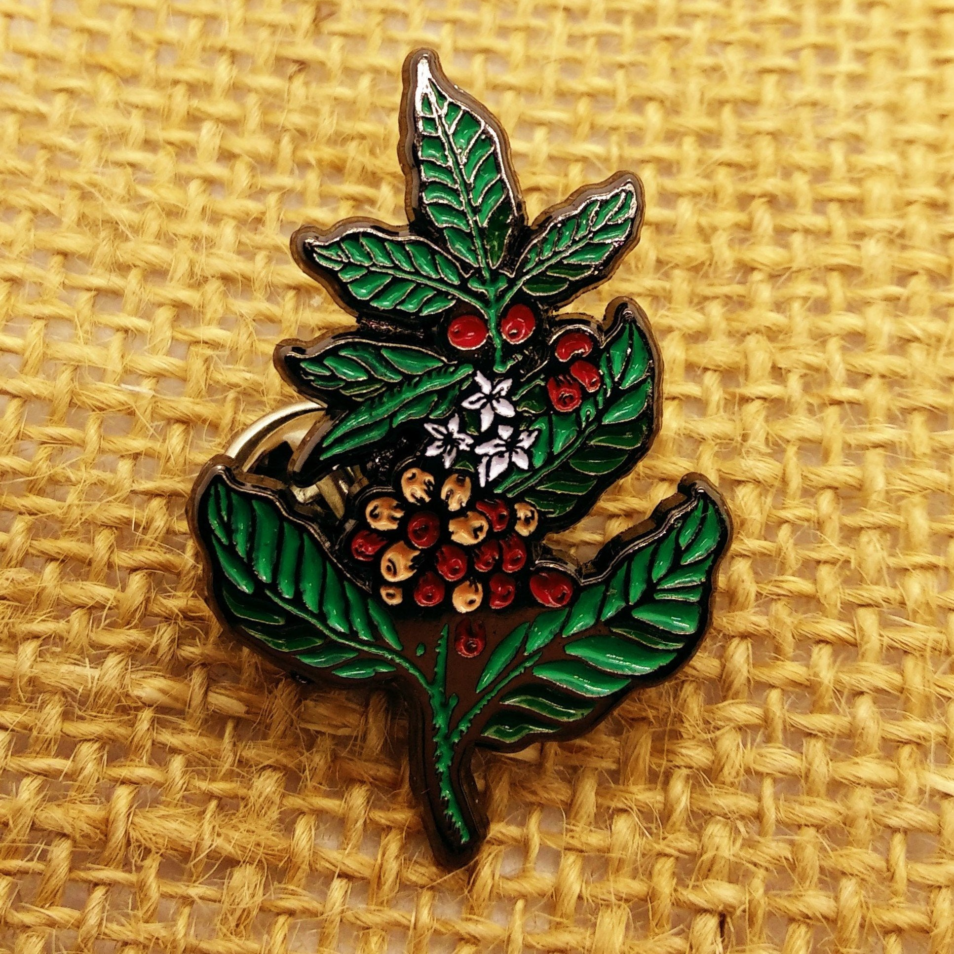 Coffee Plant Pin