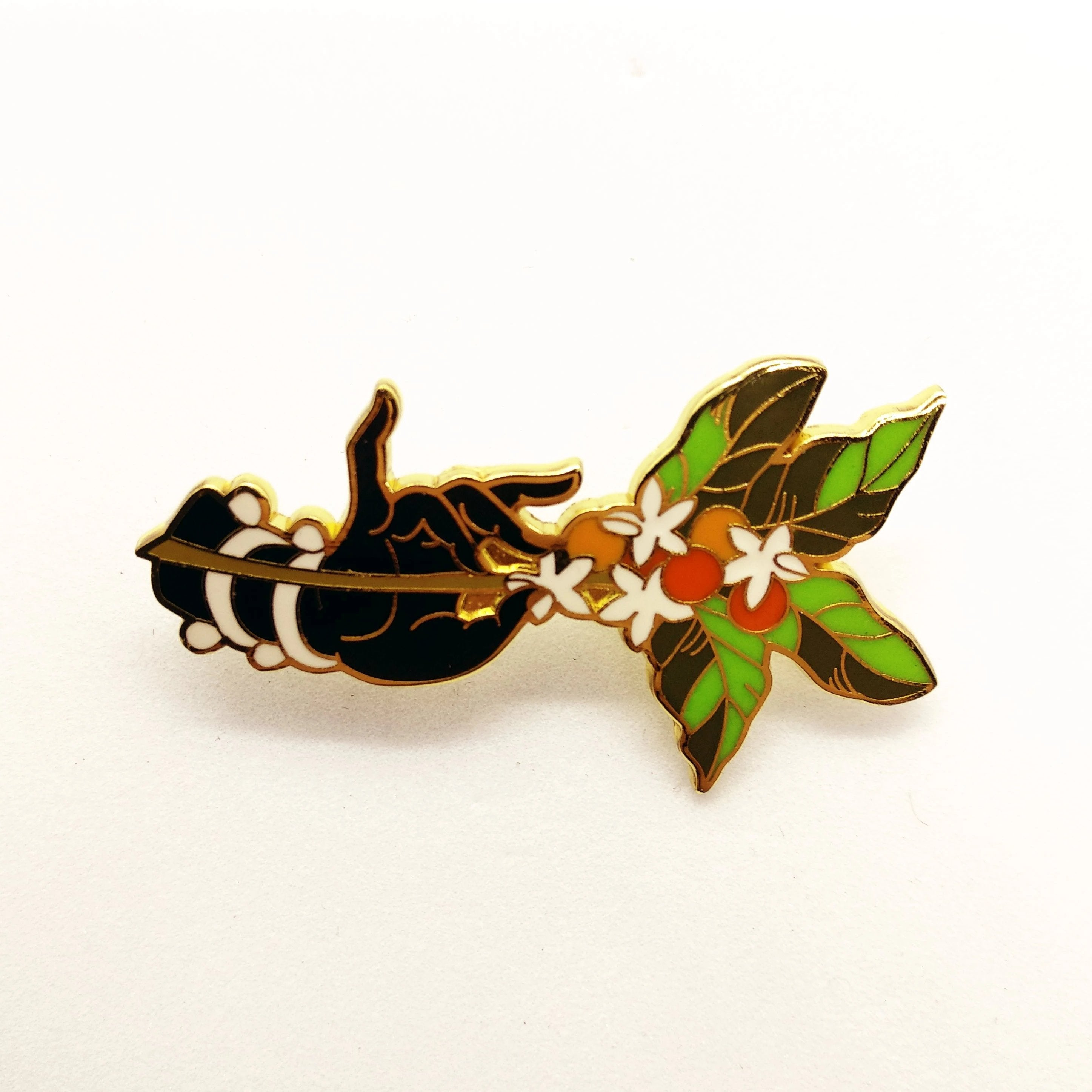 Coffee Hand&Plant Pin