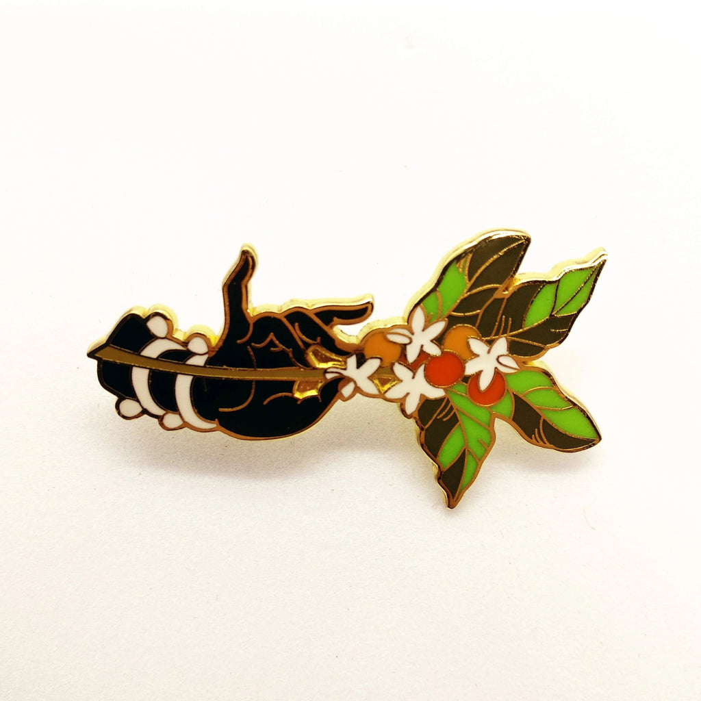 Coffee Hand&Plant Pin - HUNPER