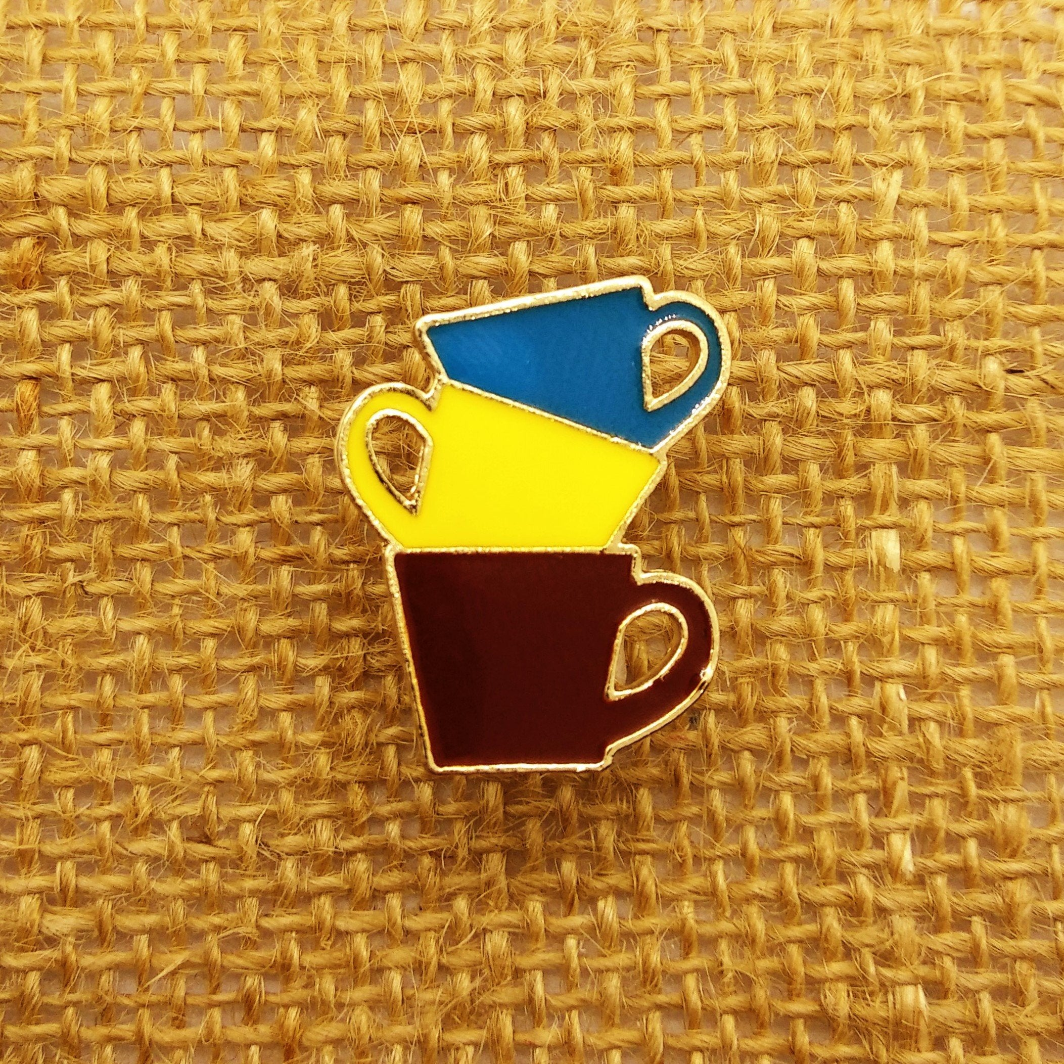 Coffee Cup Pin - HUNPER