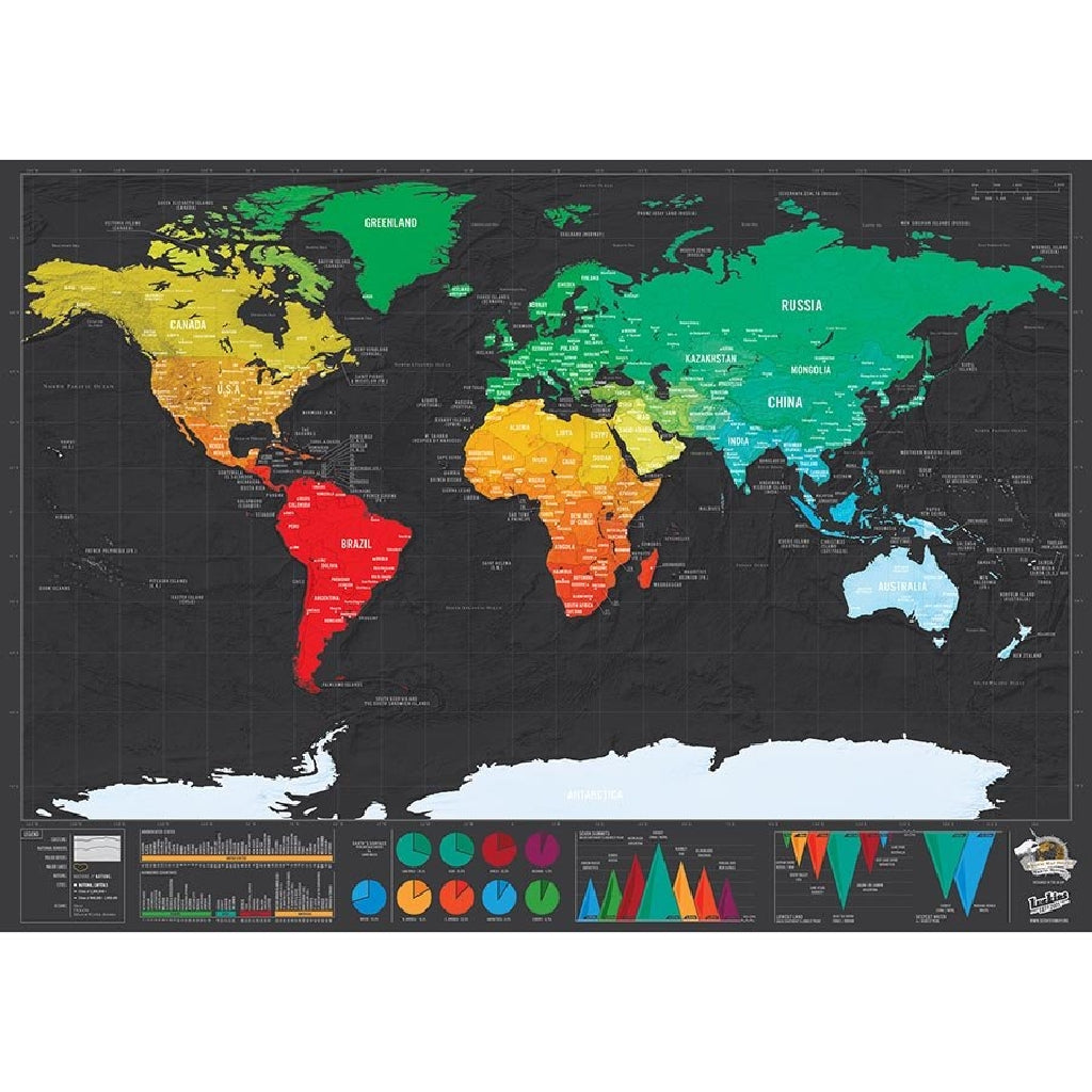 World Scratch Map - HUNPER