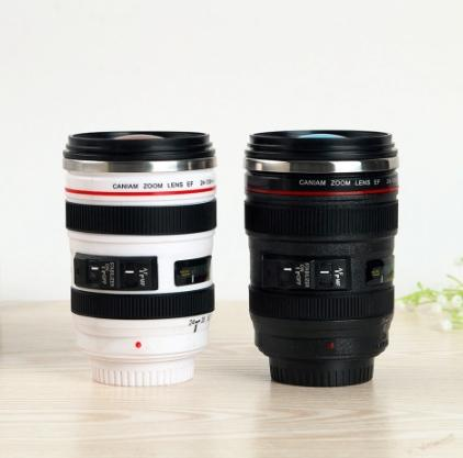 Camera Lens Shaped Coffee Mug - HUNPER
