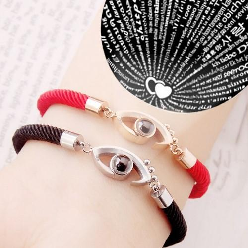 I LOVE YOU In 100 Languages Handmade Rope Bracelet
