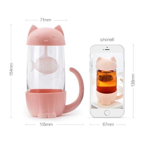 Cat Tea Infuser Mug - HUNPER