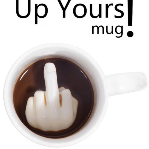 Middle Finger Coffee Mug - HUNPER