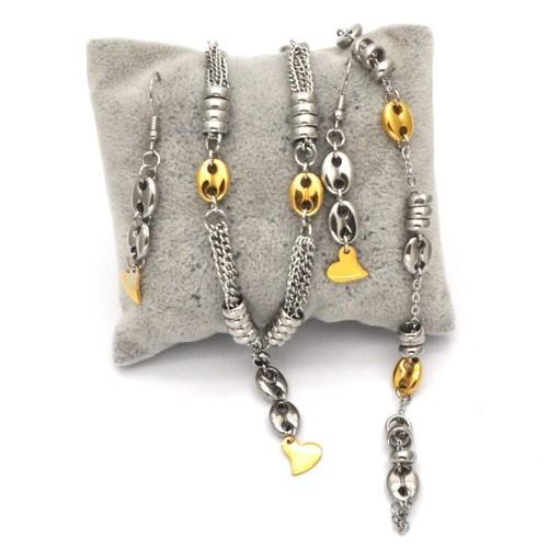 Coffee Bean & Heart Jewelry Set - HUNPER