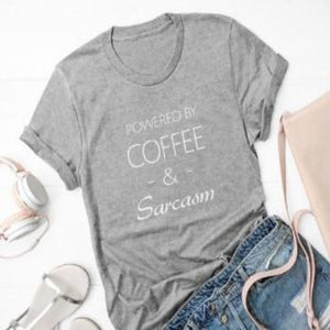 """Coffee & Sarcasm"" T-Shirt"