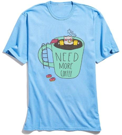 """Need More Coffee"" T-Shirt - HUNPER"