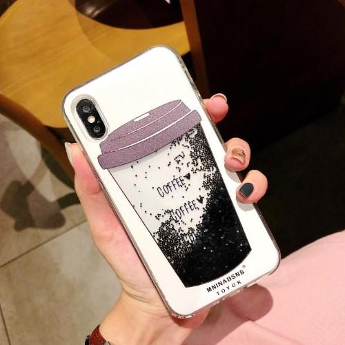 Liquid Quicksand Coffee Phone Case - HUNPER