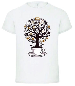 """Coffee Tree Cup Bean Life"" T-Shirt"