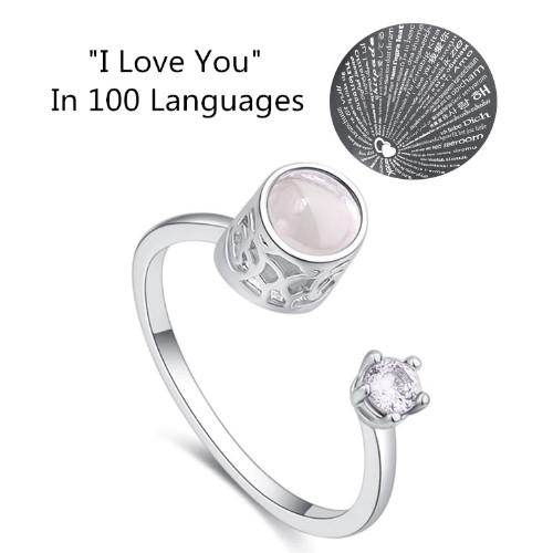I LOVE YOU In 100 Languages Ring - HUNPER