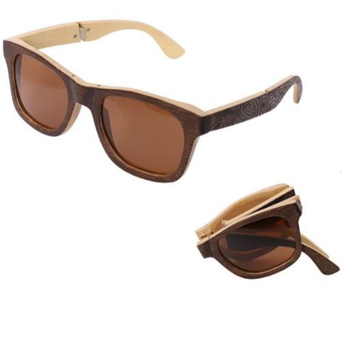 Bamboo Sunglasses (UV400) - HUNPER