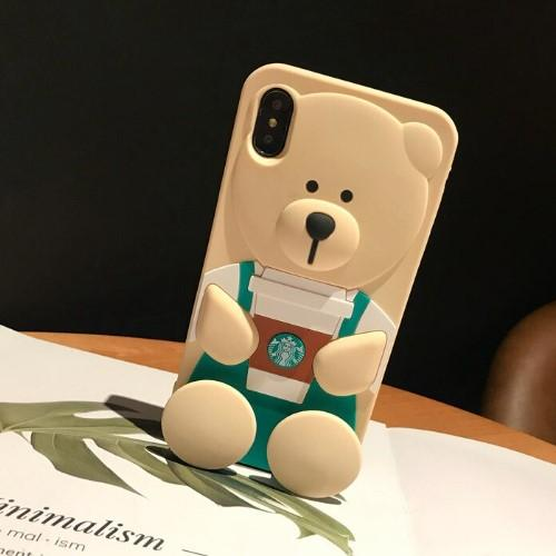 3D Coffee Ted Bear Phone Case