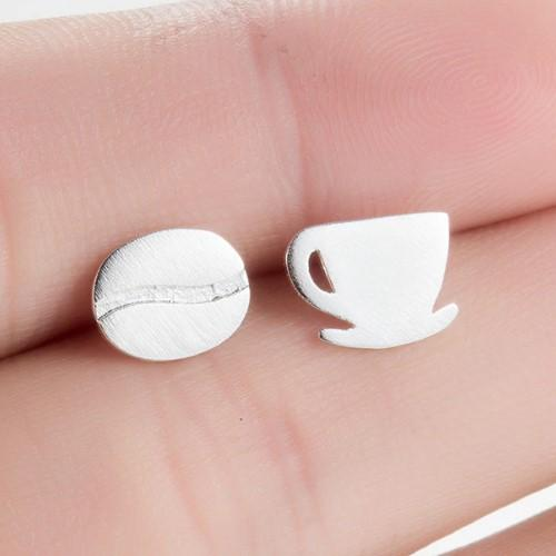 Coffee Cup & Bean Earrings - HUNPER