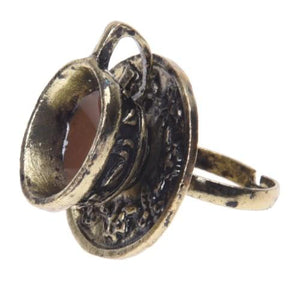 Vintage Coffee Cup Ring - HUNPER