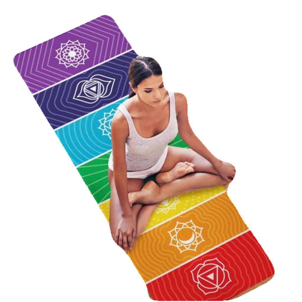 Rainbow Stripes Yoga Mat