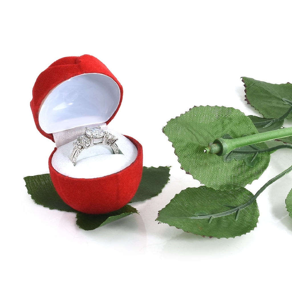 Red Rose Ring Box - HUNPER