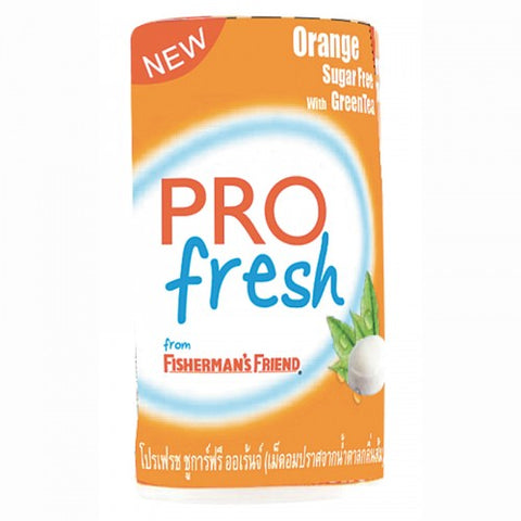 Pro Fresh Sugar Free Lozenges Orange Flavor with Green Tea Size 16 g.