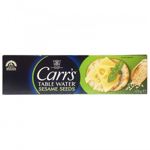 Carr's Table Water Cracker with Sesame Seed Size 125 g.