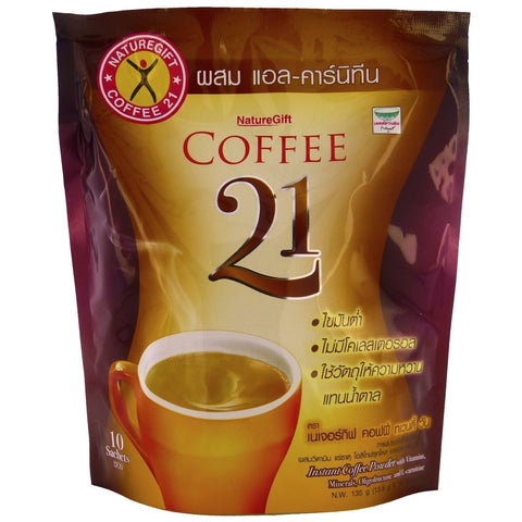 Naturegift slimming instant Coffee 21 Plus L-Carnitine Formula 20 sachets