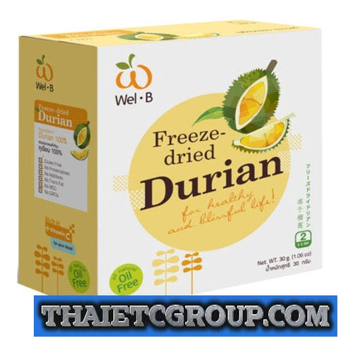 NEW Wel-B FD Vacuum Freeze Dried Durian Oil Free Low Fat Snack Eat Healthy