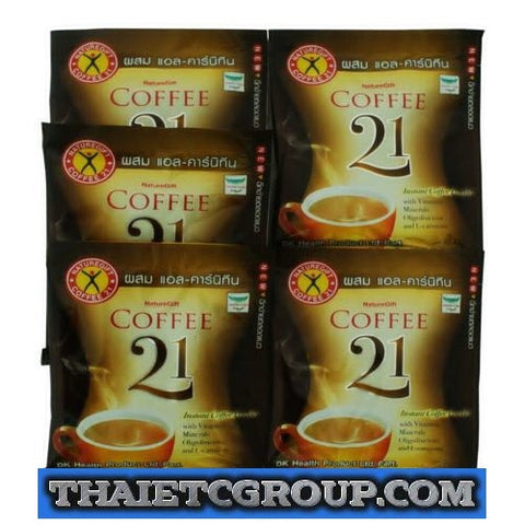 NATUREGIFT COFFEE 21 PLUS Slim L-CARNITINE SLIMMING 5 SACHET Lose weight Fast