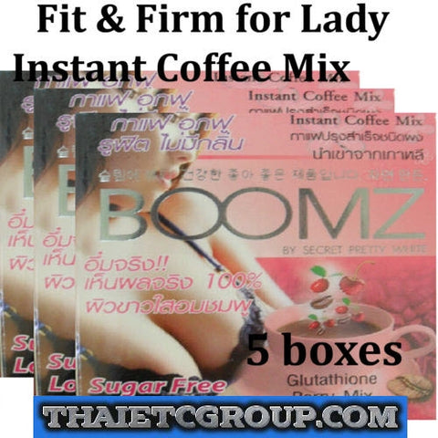 3 BOOMZ Instant coffee Drink Glutathione Berry mix Fit & Firm Breast Bust Korea