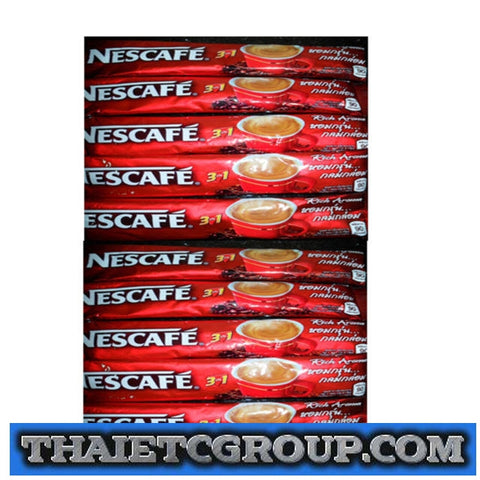 Nescafe 3 IN 1 Original Taste Instant coffee drink mix Powder 10 Sachets Sticks