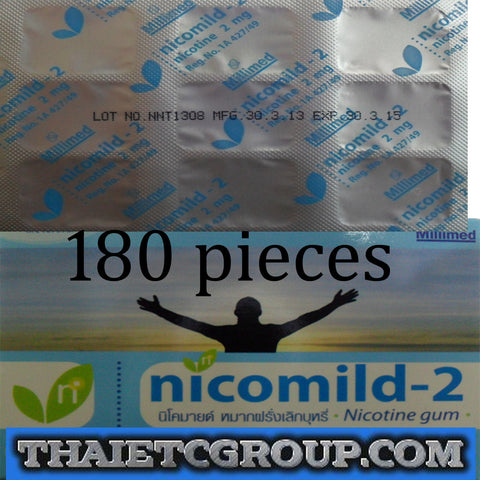 180 Nicotine Gum Quit Smoking Cessation Nicotine Withdrawal Nicotine 2 mg