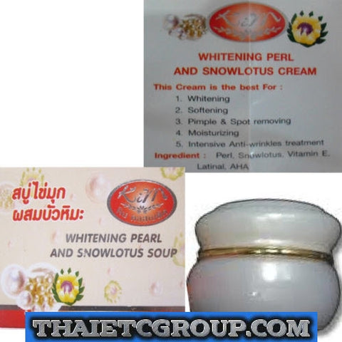 WHITENING PEARL SNOW LOTUS FACE SMOOTHER CREAM ANTI-FRECKLE WRINKLE PIMPLE KIM