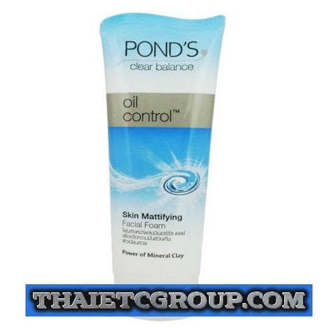 100g Pond's Clear Balance Solution Oil Control Skin Mattifying Facial Foam Wash