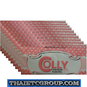 10 COLLY PINK Collagen peptide Dietary supplement drink Strawberry flavor packs