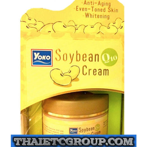 YOKO Soybean Cream Coenzyme Q10 Anti-Aging Even tone Skin Whitening Moisturizer