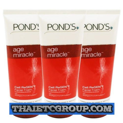 3 x 100g POND'S AGE MIRACLE DAILY FACE WASH FACIAL FOAM CELL REGEN CLEANSER